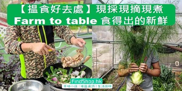 【揾食好去處】「Farm to Table」現採現摘現煮  食得出的新鮮!