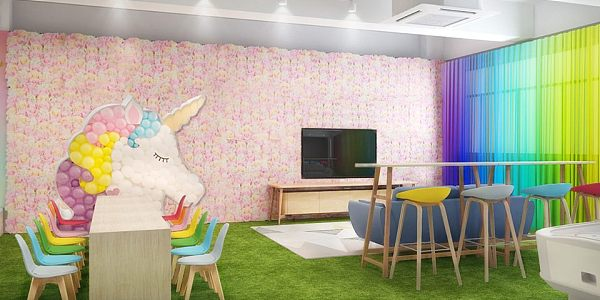 Unicorn Stage Party Room